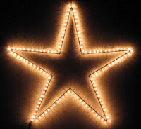 Wowlights 30 inch rope light star fifth star from left aloadofball Choice Image